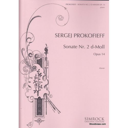 SIMROCK PROKOFIEFF SERGE - PIANO SONATA NO. 2 IN D MINOR OP. 14 - PIANO