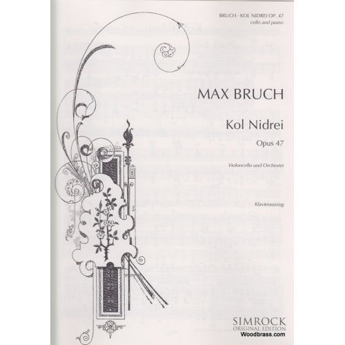 SIMROCK BRUCH MAX - KOL NIDREI OP.47 - CELLO AND ORCHESTRA