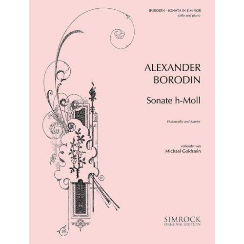 SIMROCK BORODIN ALEXANDER - SONATA IN B MINOR - CELLO AND PIANO