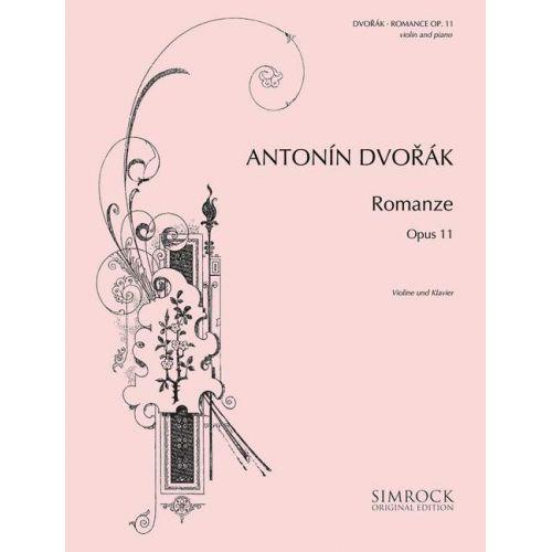 SIMROCK DVORAK ANTONIN - ROMANCE OP 11 - VIOLIN AND ORCHESTRA