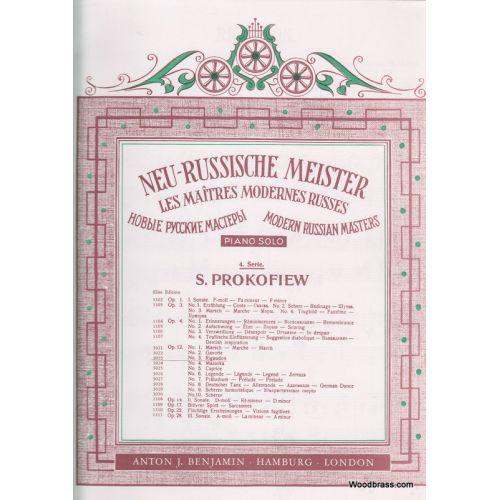 SIMROCK PROKOFIEV S. - RIGAUDON OP.12 N°3 - PIANO