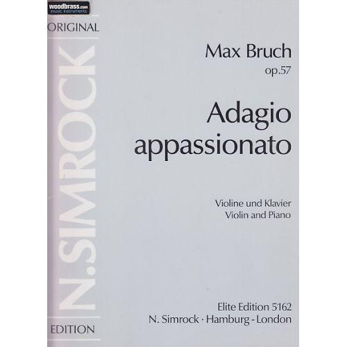 SIMROCK BRUCH MAX - ADAGIO APPASSIONATO OP.57 - VIOLIN AND ORCHESTRA