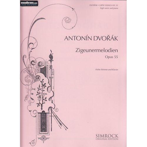 SIMROCK DVORAK ANTONIN - GIPSY SONGS OP. 55 - HIGH VOICE AND PIANO