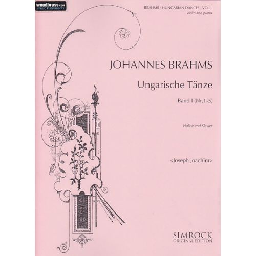 SIMROCK BRAHMS JOHANNES - HUNGARIAN DANCES VOL.1 - VIOLIN AND PIANO