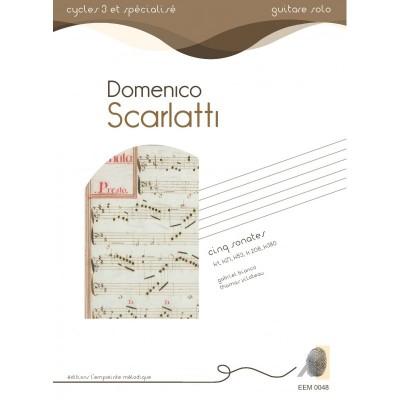 L'EMPREINTE MéLODIQUE SCARLATTI D. - CINQ SONATES - GUITARE