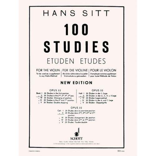 EULENBURG SITT HANS - 100 STUDIES OP. 32 HEFT 2 - VIOLIN