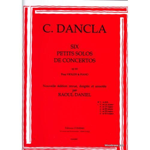 COMBRE DANCLA CH. - PETIT SOLO DE CONCERTO OP. 141 N° 2 EN LA MINEUR - VIOLON ET PIANO