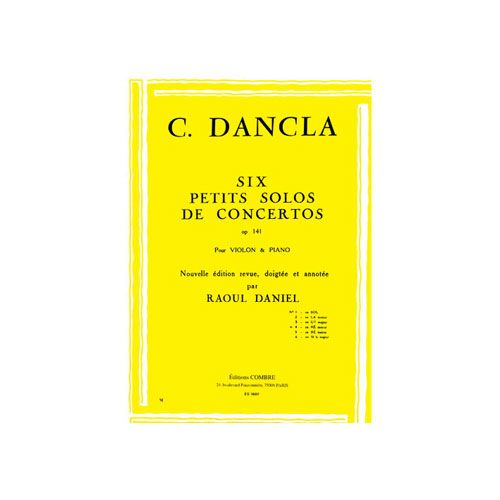 COMBRE DANCLA CHARLES - PETIT SOLO DE CONCERTO OP.141 N.4 EN RE MIN. - VIOLON ET PIANO