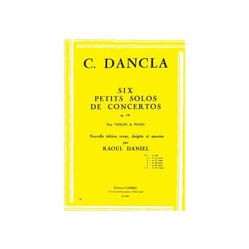COMBRE DANCLA CHARLES - PETIT SOLO DE CONCERTO OP.141 N.6 EN SIB MAJ. - VIOLON ET PIANO