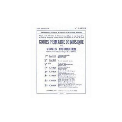 COMBRE FOURNIER LOUIS - COURS PRIMAIRE DE MUSIQUE CAHIER 4 - FORMATION MUSICALE