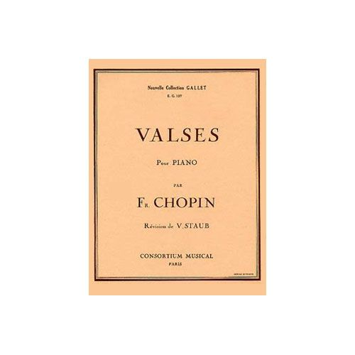 COMBRE CHOPIN FREDERIC - VALSES - PIANO