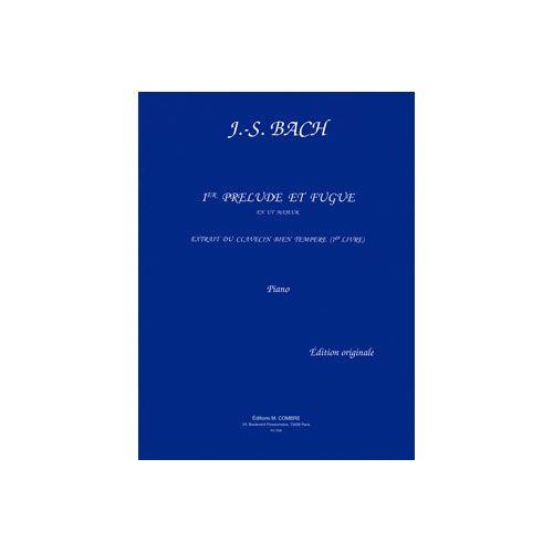 COMBRE BACH JOHANN SEBASTIAN - PRELUDE ET FUGUE N.1 EN UT MAJ. - PIANO