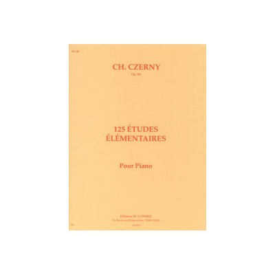 COMBRE CZERNY CARL - ETUDES ELEMENTAIRES (125) OP.261 - PIANO