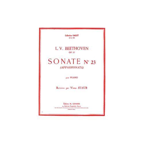 COMBRE BEETHOVEN LUDWIG VAN - SONATE N.23 OP.57 APPASSIONATA - PIANO