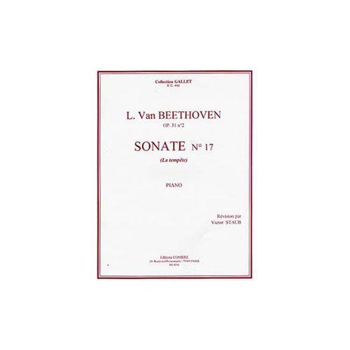 COMBRE BEETHOVEN LUDWIG VAN - SONATE N.17 OP.31 N.2 LA TEMPETE - PIANO