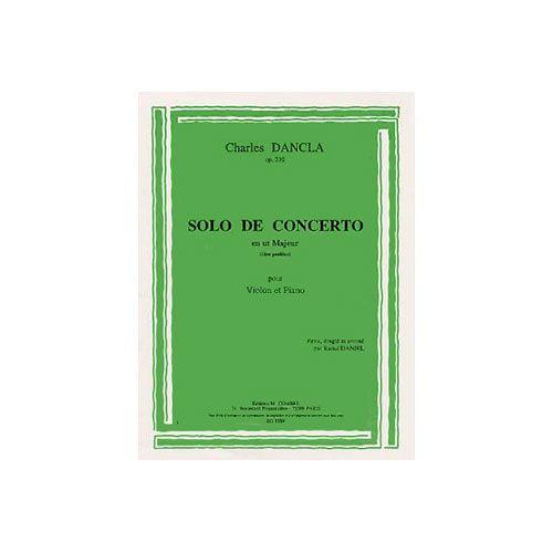 COMBRE DANCLA CHARLES - SOLO DE CONCERTO EN UT MAJEUR OP.210 - VIOLON ET PIANO