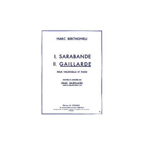 COMBRE BERTHOMIEU MARC - GAILLARDE - VIOLONCELLE ET PIANO