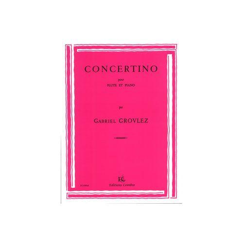 COMBRE GROVLEZ GABRIEL - CONCERTINO - FLUTE ET PIANO
