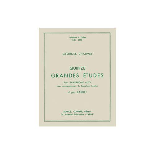 COMBRE CHAUVET G. - GRANDES ETUDES (15) - SAXOPHONE