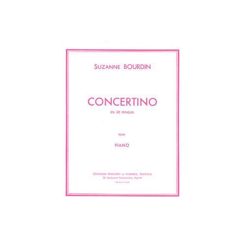 COMBRE BOURDIN SUZANNE - CONCERTINO EN RE MINEUR - PIANO