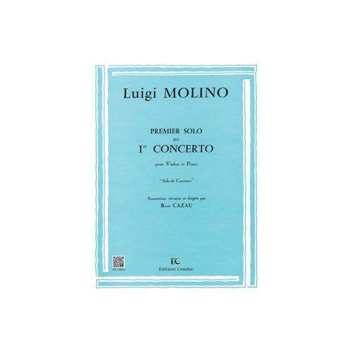 COMBRE MOLINO LUIGI - SOLO N.1 DU CONCERTO N.1 - VIOLON ET PIANO