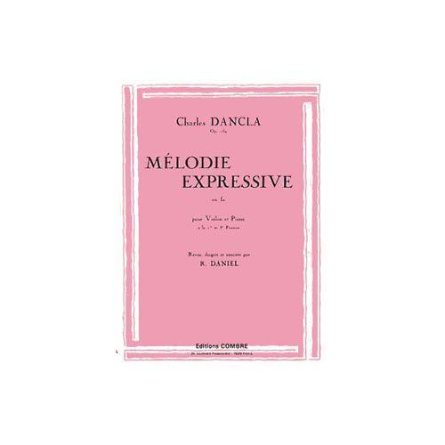 COMBRE DANCLA CHARLES - PETITES PIECES MELODIQUES OP.159 N.17 MELODIE EXPRESSIVE - VIOLON ET PIANO