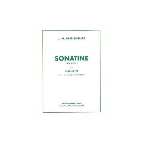 COMBRE DEPELSENAIRE JEAN-MARIE - SONATINE FA MIN. - CLARINETTE SIB OU SAXOPHONE MIB ET PIANO