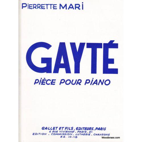COMBRE MARI PIERRETTE - GAYTE - PIANO