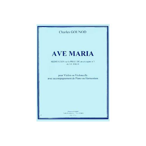 COMBRE GOUNOD CHARLES - AVE MARIA - VIOLON OU VIOLONCELLE ET PIANO OU HARMONIUM