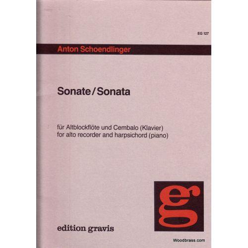 GRAVIS SCHOENDLINGER ANTON - SONATE FÜR ALTBLOCKFLOTE UND CEMBALO