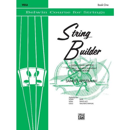 ALFRED PUBLISHING APPLEBAUM SAMUEL - STRING BUILDER 1 - VIOLA