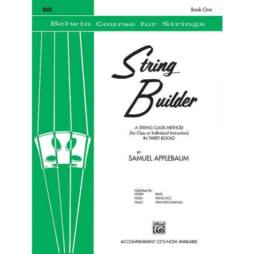 ALFRED PUBLISHING APPLEBAUM SAMUEL - STRING BUILDER 1 - DOUBLE BASS