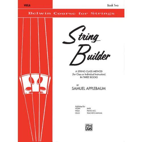 ALFRED PUBLISHING APPLEBAUM SAMUEL - STRING BUILDER 2 - VIOLA