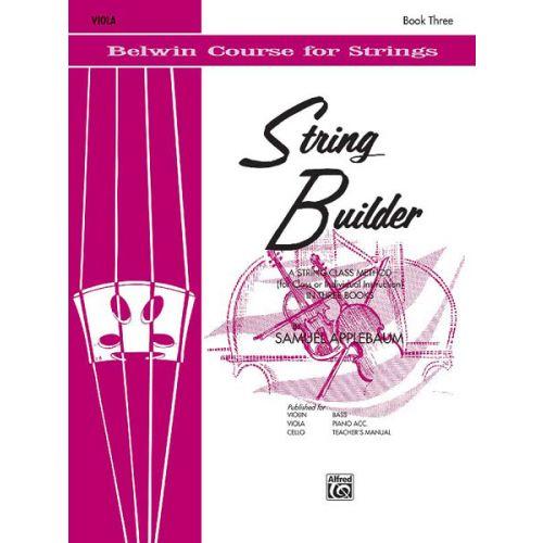 ALFRED PUBLISHING APPLEBAUM SAMUEL - STRING BUILDER 3 - VIOLA