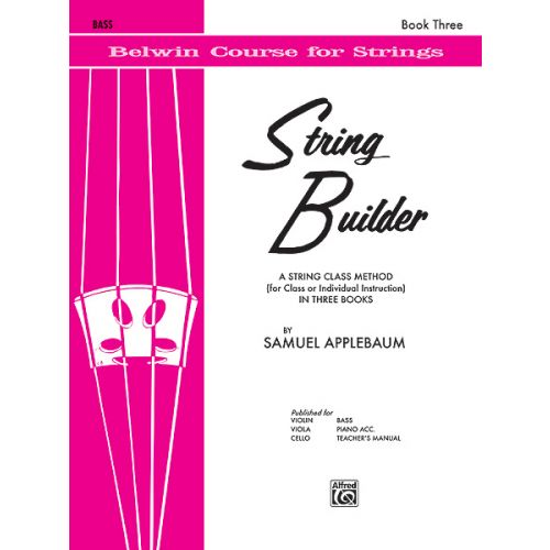 ALFRED PUBLISHING APPLEBAUM SAMUEL - STRING BUILDER 3 - DOUBLE BASS
