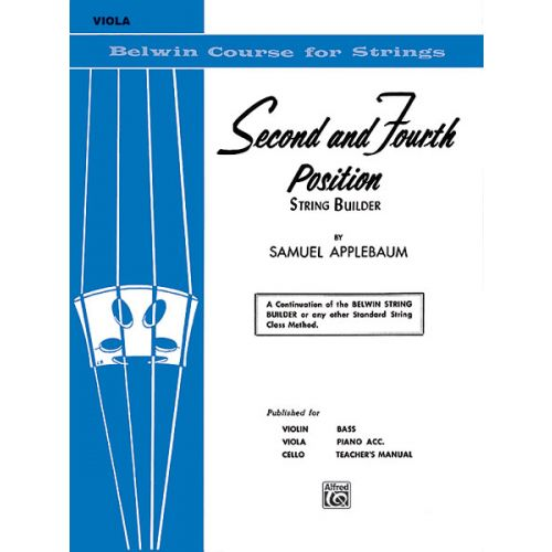 ALFRED PUBLISHING APPLEBAUM SAMUEL - 2ND AND 4TH POSITION STUDIES - VIOLA