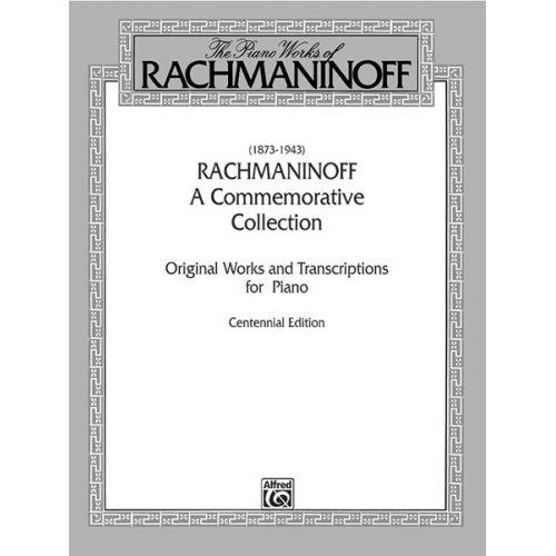 ALFRED PUBLISHING RACHMANINOV SERGEI - A COMMEMORATIVE COLLECTION - PIANO SOLO