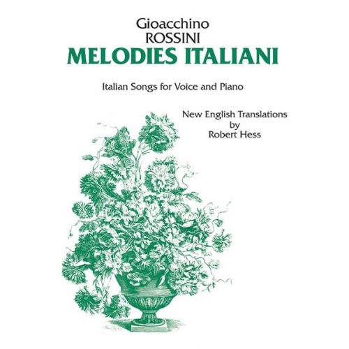 ALFRED PUBLISHING ITALIAN MELODIES-ROSSINI - VOICE AND PIANO