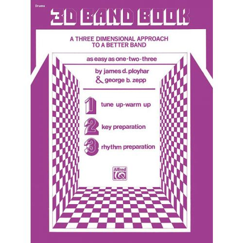 ALFRED PUBLISHING 3-D BAND BOOK - DRUMS