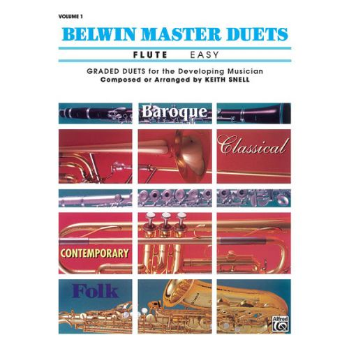 ALFRED PUBLISHING SNELL KEITH - BELWIN MASTER DUETS - FLUTE EASY I - FLUTE ENSEMBLE