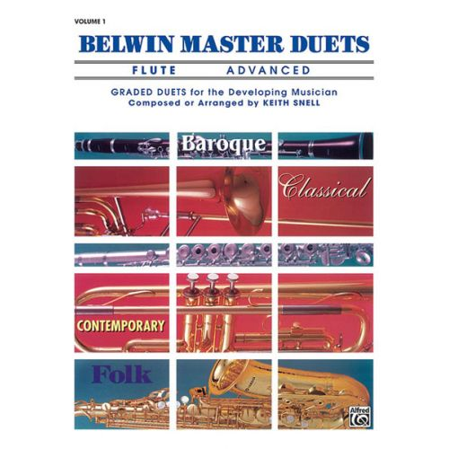 ALFRED PUBLISHING SNELL KEITH - BELWIN MASTER DUETS ADVANCED I - FLUTE ENSEMBLE