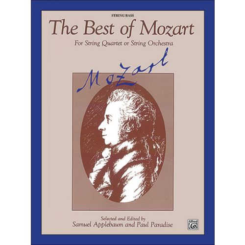 ALFRED PUBLISHING BEST OF MOZART - STRING BASS