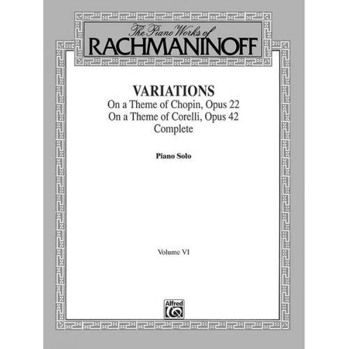ALFRED PUBLISHING RACHMANINOV SERGEI - VARIATIONS 6 - PIANO SOLO