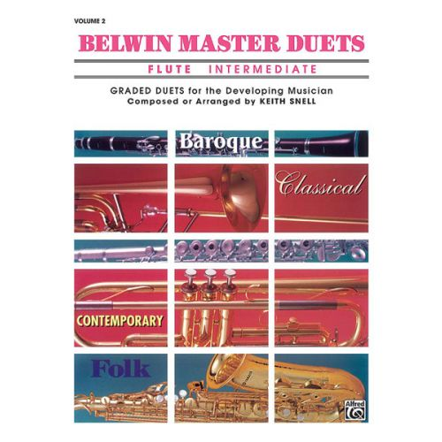 ALFRED PUBLISHING SNELL KEITH - BELWIN MASTER DUETS - FLUTE INTERMEDIATE II - FLUTE ENSEMBLE