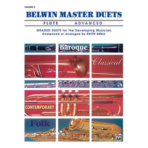 ALFRED PUBLISHING SNELL KEITH - BELWIN MASTER DUETS - FLUTE ADVANCED II - FLUTE ENSEMBLE