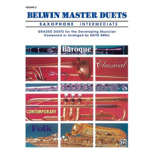 ALFRED PUBLISHING SNELL KEITH - BELWIN MASTER DUETS SAXOPHONE INTERMEDIATE II - SAXOPHONE ENSEMBLE