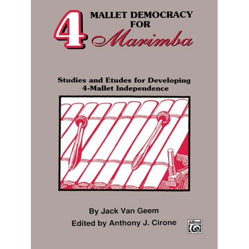 ALFRED PUBLISHING VAN GEEM J. - 4 MALLET DEMOCRACY - MARIMBA