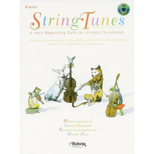 ALFRED PUBLISHING APPLEBAUM SAMUEL - STRINGTUNES + CD - VIOLIN SOLO