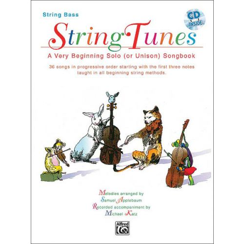 ALFRED PUBLISHING APPLEBAUM SAMUEL - STRINGTUNES + CD - DOUBLE BASS AND PIANO