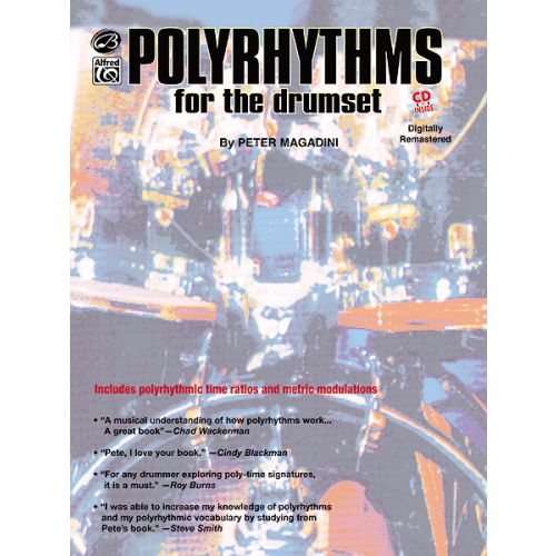 ALFRED PUBLISHING POLYRHYTHMS FOR THE DRUMSET + CD - DRUMS & PERCUSSION